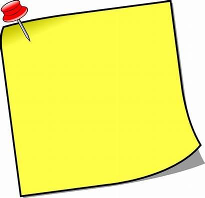 Note Clipart Board Stick Notice Clip Cliparts