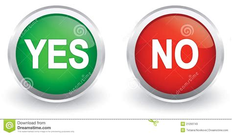 Yes/no Glossy Icons Stock Vector. Illustration Of