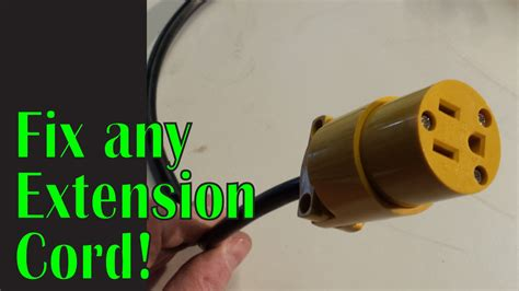 replacing the on an extension cord reel
