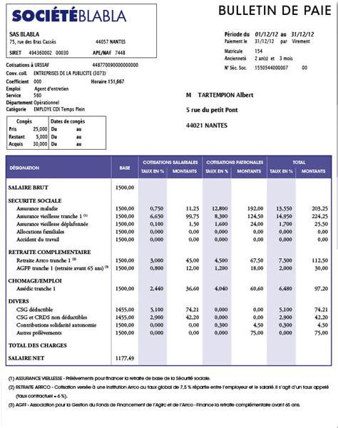 bulletin de salaire cadre chiffres cl 233 s du bulletin de paye comptazine