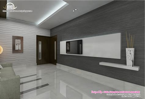 Home Living Room Interior Design Black And White Themed Interior Designs Kerala Homes