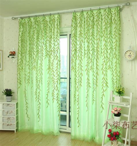 pastoral curtains willow tulle door drape panel sheer