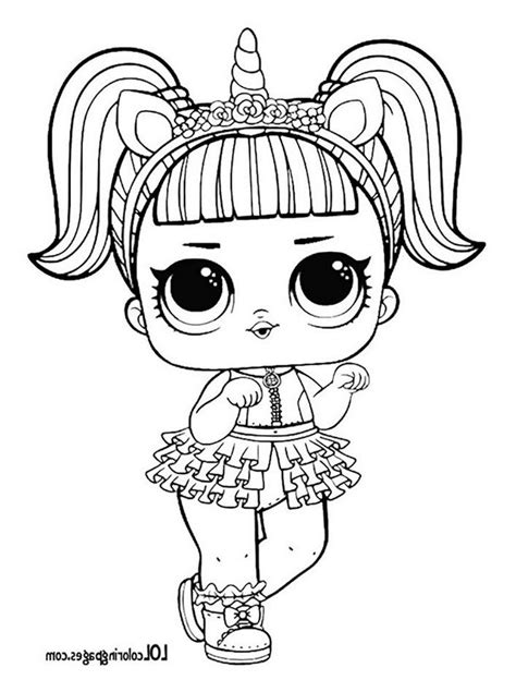 unicorn lol surprise doll coloring page lol surprise doll