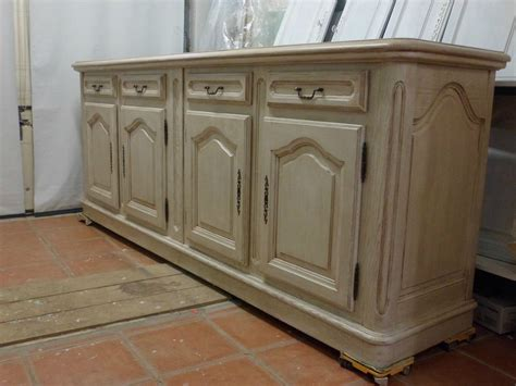 meuble cuisine le bon coin bahut 4 portes craie patiné marron relook meubles62