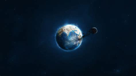 Space, Earth, Moon, Destruction Wallpapers Hd / Desktop