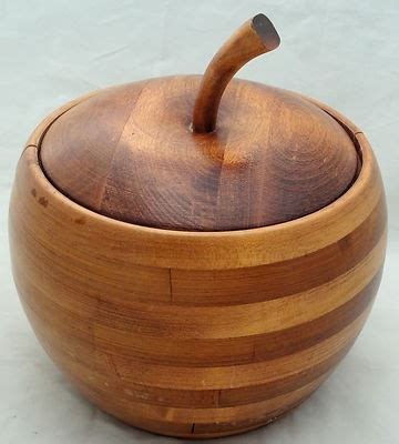 vintage baribocraft canada apple shaped staved maple wood design c1970s vintage