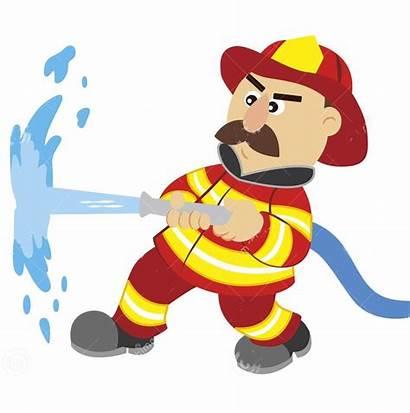 Fireman Cartoon Illustration Clipart Sweat Anatomy Vector