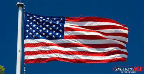 american flag etiquette   home sneades ace home