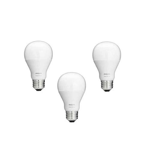 philips 468058 hue white a19 light bulbs 3 pack works