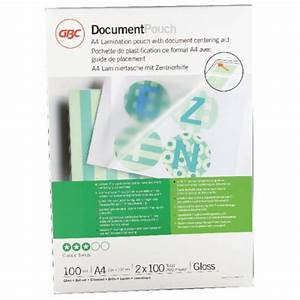 gbc document laminating pouches a4 2 x 100 micron gloss With where can i get a document laminated