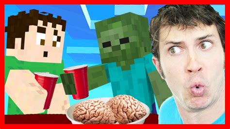 minecraft zombie house party youtube