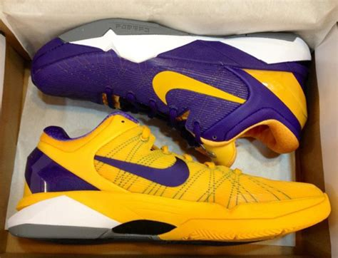 laker colors nike zoom vii new lakers colorways sneakernews