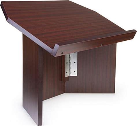 folding table top podium tabletop tri folding lectern red mahogany
