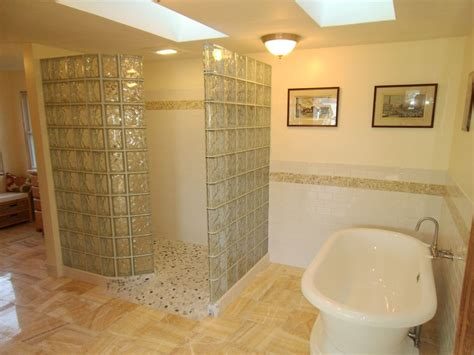 Shower Walls And Base by Remodeling Space A Garage Larger Master Bathroom New