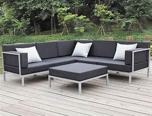 aluminium exterieure canape avec resistance a l39eau With tapis exterieur avec canape exterieur aluminium