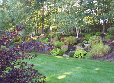 hillside gardening hillside garden sloping landscape ideas pinterest hillside garden new england and