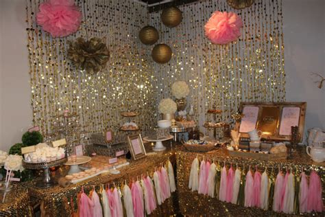 baby  cold  pink  gold baby shower project