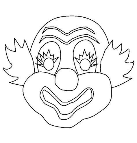 Clown Masker Kleurplaat maskers kleurplaten clown