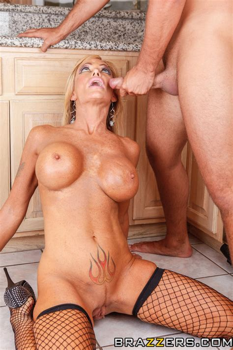 Filthy Blond Milf Whore Screwed In The Kitchen Photos