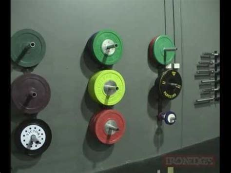 wall mounted bumper plate storage youtube