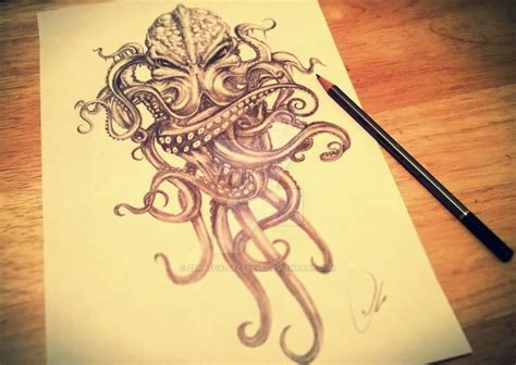 cthulhu tattoo design sample  zerofox faceless