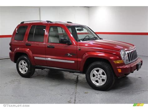jeep cars red 2005 inferno red crystal pearl jeep liberty crd limited