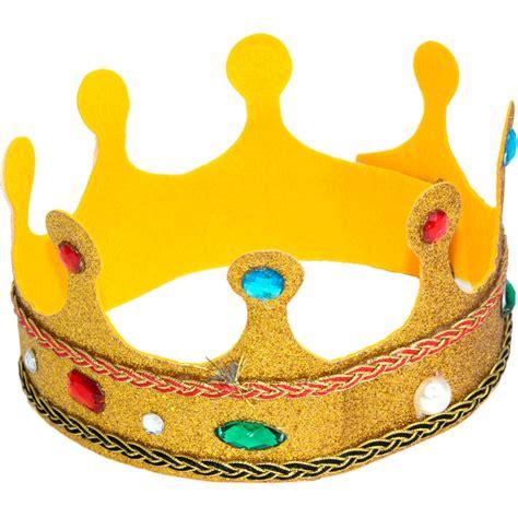 Child's Gold Glitter Crown [] - MardiGrasOutlet.com