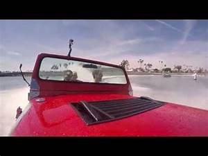 Joey Logano makes a splash in a water car - YouTube