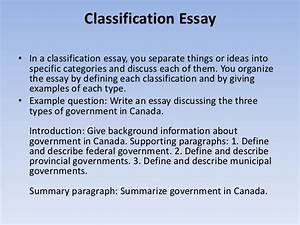 How To Write A Synthesis Essay Classification Essay Writing Guide Template Essay In English For Students also Corruption Essay In English Classification Essay Writing Life Is Journey Essay Classification  How To Write An Essay For High School