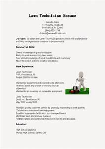 resume samples lawn technician resume sample With sample resume for lawn care worker