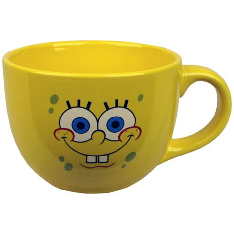 SpongeBob Squarepants Face 24 oz. Soup Mug   Silver Buffalo   SpongeBob SquarePants   Mugs at