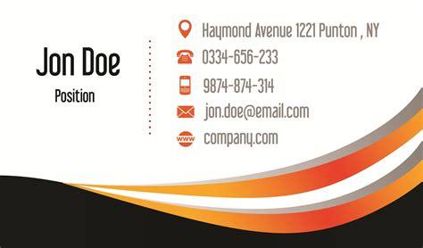orange  black business card psd design techfameplus