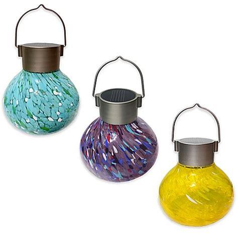 solar tea lights allsop 174 hanging outdoor solar tea lantern bed bath beyond