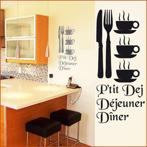 destock cuisine stickers cuisine couverts tasses mots deco cuisine