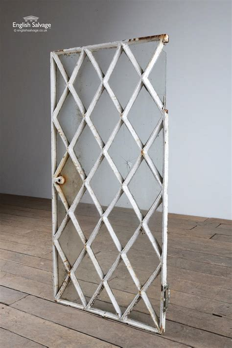 reclaimed metal diamond lattice window