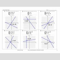Solving Systems Of Equations By Graphing Walkaround Activityscavenger Hunt