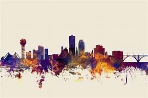 Knoxville Tennessee Skyline Digital Art by Michael Tompsett