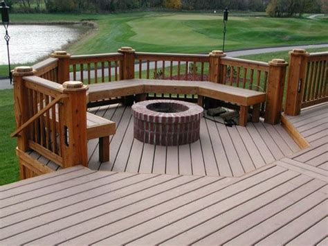 trex deck firepit extension home sweet home decks backyards and built ins