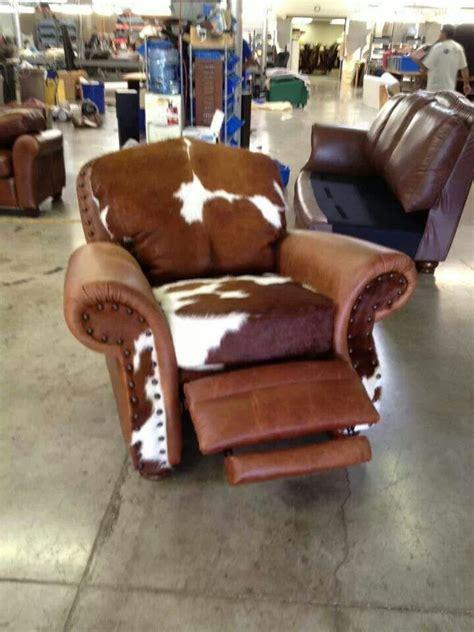 cowhide recliner furniture lighting pinterest