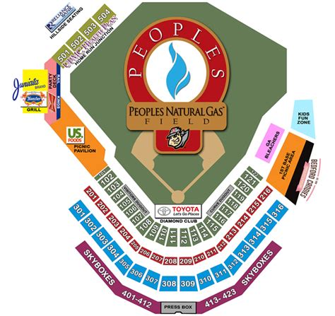 toyota fan deck tickets seating chart pricing altoona curve peoples natural