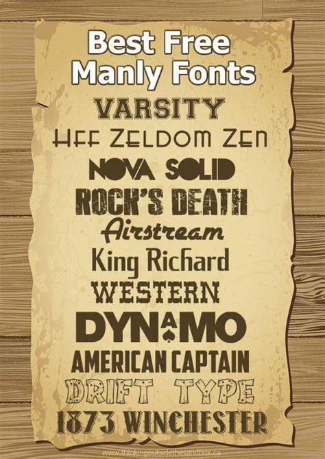 masculine fonts manly fonts cricut fonts  fonts