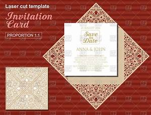 die laser cut wedding card template wedding invitation With laser cut wedding invitations vector free