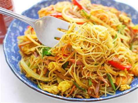 singapore style stir fried rice noodles   persons acecook viet nam