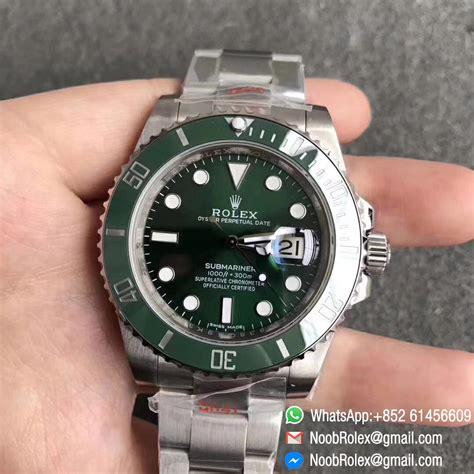 noob v9 rolex submariner 116610lv green green