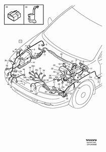 2001 Volvo S60 Cover  Cable  Harness  Engine
