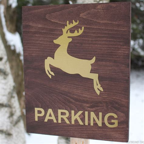 reindeer parking sign outdoor christmas decoration