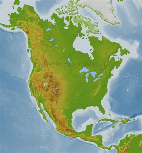 political map  north america guide   world