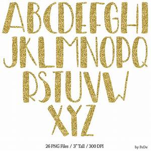 gold font clipart clipground With gold glitter alphabet letters
