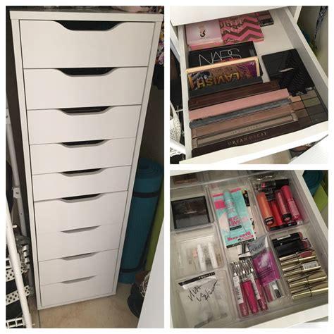 alex nine drawers how i my makeup plus storage tips
