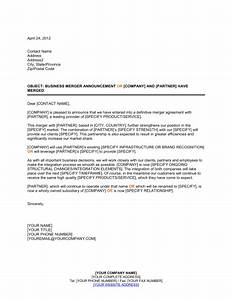 announcement of business merger template sample form With corporate announcement template